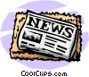 Vector Clipart illustration  of a newspaper