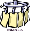 Vector Clip Art image  of a short-order restaurant food