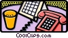 Vector Clipart picture  of a phone