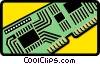 computer circuit board Vector Clipart illustration