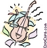 musician/bass Vector Clipart graphic