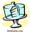 Vector Clipart picture  of a cake wedge in a restaurant