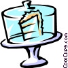 cake on display Vector Clipart graphic