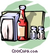 menu, ketchup, salt and pepper Vector Clip Art picture