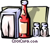 Vector Clip Art graphic  of a condiments