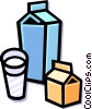 Vector Clip Art image  of a dairy products
