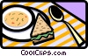 Vector Clipart picture  of a dining/food
