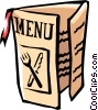 Vector Clip Art picture  of a Restaurant Menu