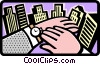 hands Vector Clip Art graphic