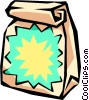 Vector Clipart graphic  of a grab bag