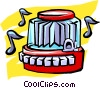 Vector Clipart image  of a juke  box