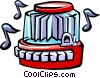 restaurant jukebox Vector Clipart illustration