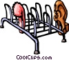 Vector Clipart picture  of a shoe rack