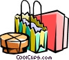 Shopping parcels Vector Clip Art picture