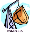 crane with cargo Vector Clipart picture