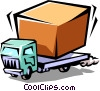 Vector Clipart graphic  of a delivery truck with package