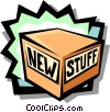 Vector Clip Art graphic  of a new product