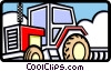 Vector Clipart image  of a farm tractor