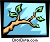 Vector Clip Art graphic  of a branch