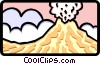 Vector Clipart illustration  of a volcano