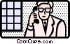 man on phone Vector Clip Art picture