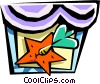 Vector Clipart image  of a carnival game