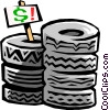 Vector Clipart picture  of a tires