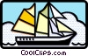 Vector Clipart graphic  of a sail boat