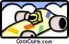 racecar Vector Clipart graphic