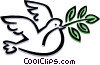bird peace dove Vector Clipart picture