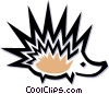 Vector Clipart picture  of a porcupine