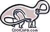Vector Clip Art graphic  of a dinosaur