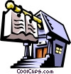 school or library architecture Vector Clipart picture