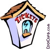 Vector Clip Art image  of a ticket booth