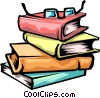 Vector Clip Art picture  of a library books