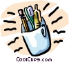 Vector Clip Art image  of a pencils/pens