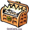 Treasure chest Vector Clipart image