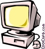 monitor Vector Clipart graphic
