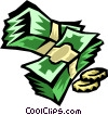 Vector Clip Art graphic  of a money