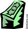 Vector Clip Art picture  of a stack of money