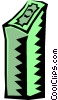 Vector Clipart image  of a stack of money