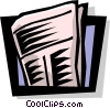 Vector Clip Art graphic  of a newspaper