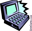 Vector Clip Art picture  of a notebook computer
