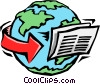 Vector Clipart illustration  of a newswire international news