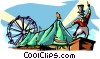 Big top circus Vector Clipart illustration