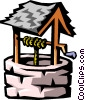 Vector Clip Art image  of a water well