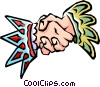 shaking hands Vector Clipart illustration