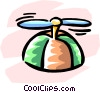Vector Clipart image  of a propeller hat