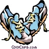 Vector Clip Art image  of a running shoes