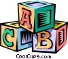 Vector Clip Art image  of a baby's blocks